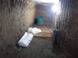 基礎下のトンネル