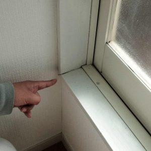 窓枠のずれ