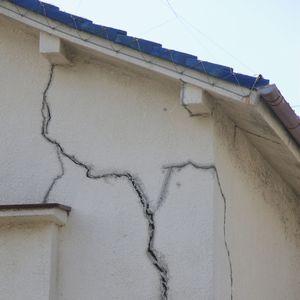 不同沈下による建物への影響