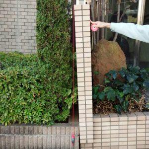 ブロック塀の傾き
