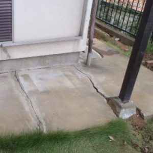 土間コンクリートの亀裂